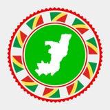 Sello plano de Congo stock de ilustración