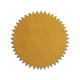 Sello plano del oro Imagen de archivo