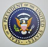Sello presidencial en Air Force One Imágenes de archivo libres de regalías