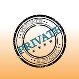 Sello privado Imagen de archivo libre de regalías