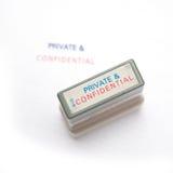 Sello privado y confidencial Foto de archivo libre de regalías