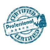 Sello profesional certificado Fotos de archivo