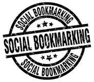sello que marca una dirección de la Internet social libre illustration