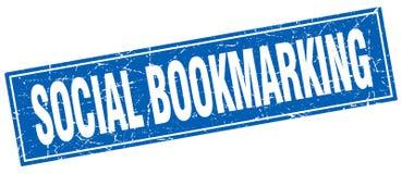 sello que marca una dirección de la Internet social stock de ilustración