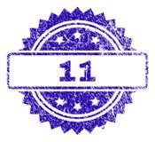 Sello rasguñado de 11 sellos Ilustración del Vector