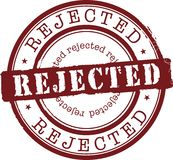 Sello rechazado Fotografía de archivo libre de regalías
