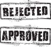 Sello rechazado y aprobado Imágenes de archivo libres de regalías