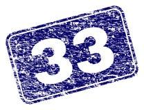 Sello redondeado enmarcado del rectángulo del Grunge 33 libre illustration