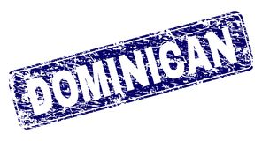 Sello redondeado enmarcado DOMINICANO del rectángulo del Grunge stock de ilustración