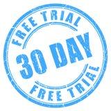 sello redondo de la tinta del ensayo libre de 30 días ilustración del vector