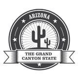 Sello redondo del estado de Arizona con el cactus Libre Illustration