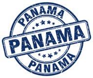 Sello redondo del grunge azul de Panamá Imagenes de archivo