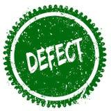 Sello redondo del verde del grunge del DEFECTO libre illustration