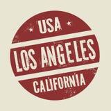 Sello redondo del vintage del Grunge con el texto Los Ángeles, California libre illustration