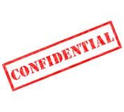Sello resistido confidencial rojo Fotografía de archivo libre de regalías