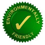 Sello respetuoso del medio ambiente Fotografía de archivo libre de regalías