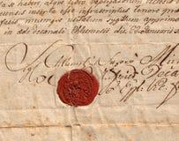 Sello rojo Imágenes de archivo libres de regalías