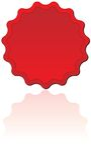 Sello rojo Foto de archivo