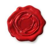 Sello rojo de la cera fotografía de archivo libre de regalías