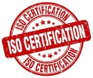 sello rojo de la certificación de la ISO libre illustration