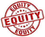 sello rojo de la equidad stock de ilustración