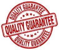 sello rojo de la garantía de calidad ilustración del vector