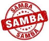 Sello rojo de la samba Fotografía de archivo