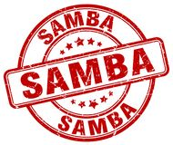 Sello rojo de la samba Foto de archivo