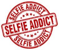 Sello rojo del adicto a Selfie libre illustration