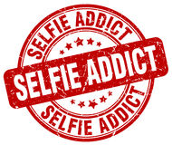 Sello rojo del adicto a Selfie stock de ilustración