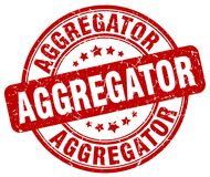 sello rojo del aggregator Imagenes de archivo