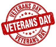 Sello rojo del día de veteranos