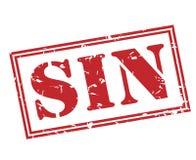 Sello rojo del pecado stock de ilustración
