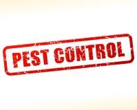 Sello rojo del texto del control de parásito stock de ilustración