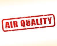 Sello rojo del texto de la calidad del aire stock de ilustración