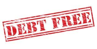 Sello rojo libre de la deuda Imagenes de archivo