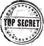 Sello secretísimo Imágenes de archivo libres de regalías