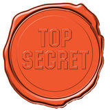 Sello secretísimo Fotografía de archivo