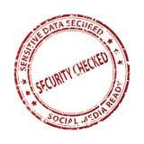 Sello social de los media aislado en blanco imágenes de archivo libres de regalías