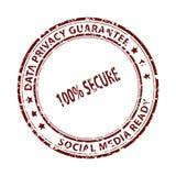 Sello social de los media aislado en blanco imagenes de archivo