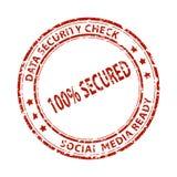 Sello social de los medios foto de archivo