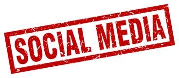 Sello social de los medios stock de ilustración