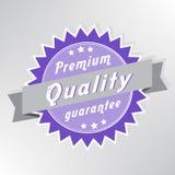 Sello superior de la garantía de calidad Foto de archivo