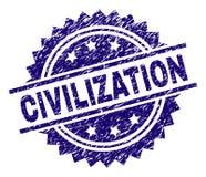 Sello texturizado Grunge del sello de la CIVILIZACIÓN stock de ilustración