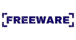 Sello texturizado Grunge del sello del FREEWARE dentro de esquinas libre illustration