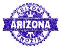Sello texturizado rasguñado del sello de ARIZONA con la cinta ilustración del vector