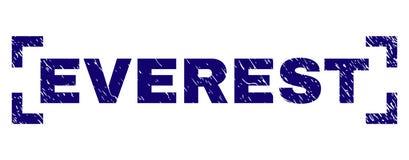 Sello texturizado rasguñado del sello de EVEREST entre las esquinas ilustración del vector