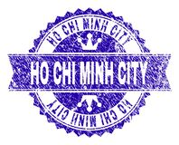Sello texturizado rasguñado del sello de HO CHI MINH CITY con la cinta libre illustration