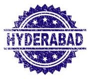 Sello texturizado rasguñado del sello de HYDERABAD libre illustration