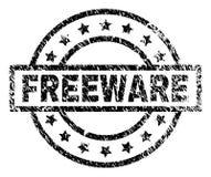 Sello texturizado rasguñado del sello del FREEWARE ilustración del vector